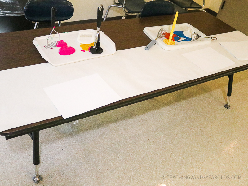 Easy Toddler Process Art Idea Using Kitchen Utensils