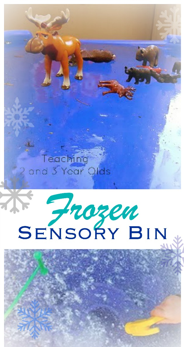 Frozen Sensory Bin for Toddlers and Preschoolers