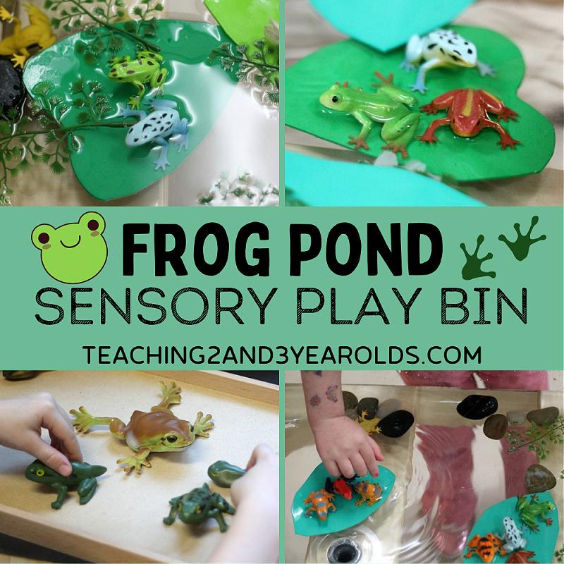 frog spring sensory bin
