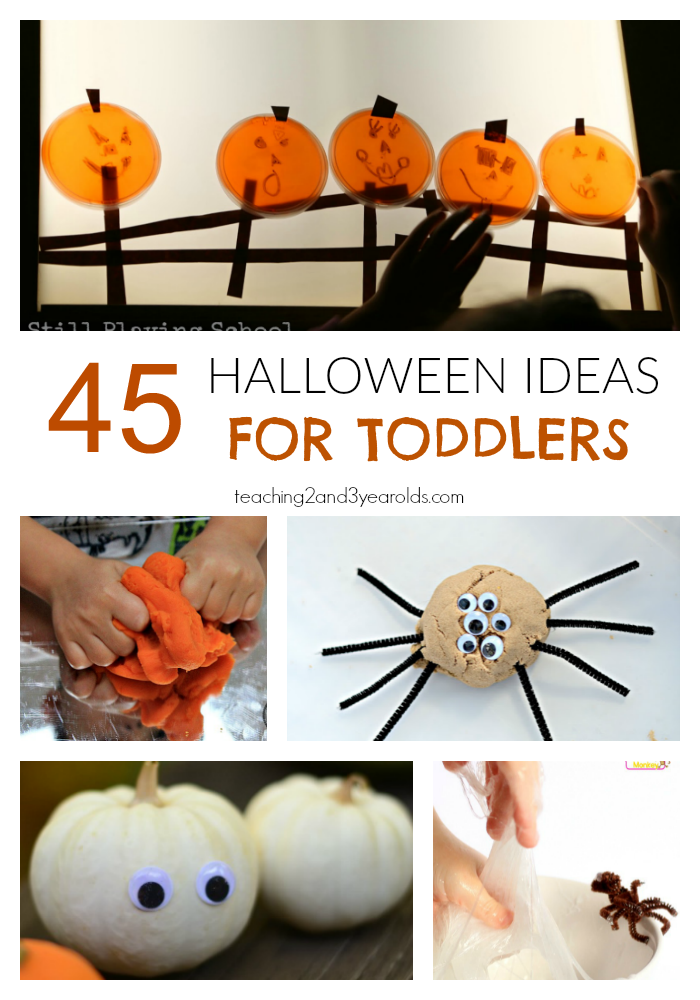 Looking for easy toddler Halloween activities? Here are 45 that they will love!