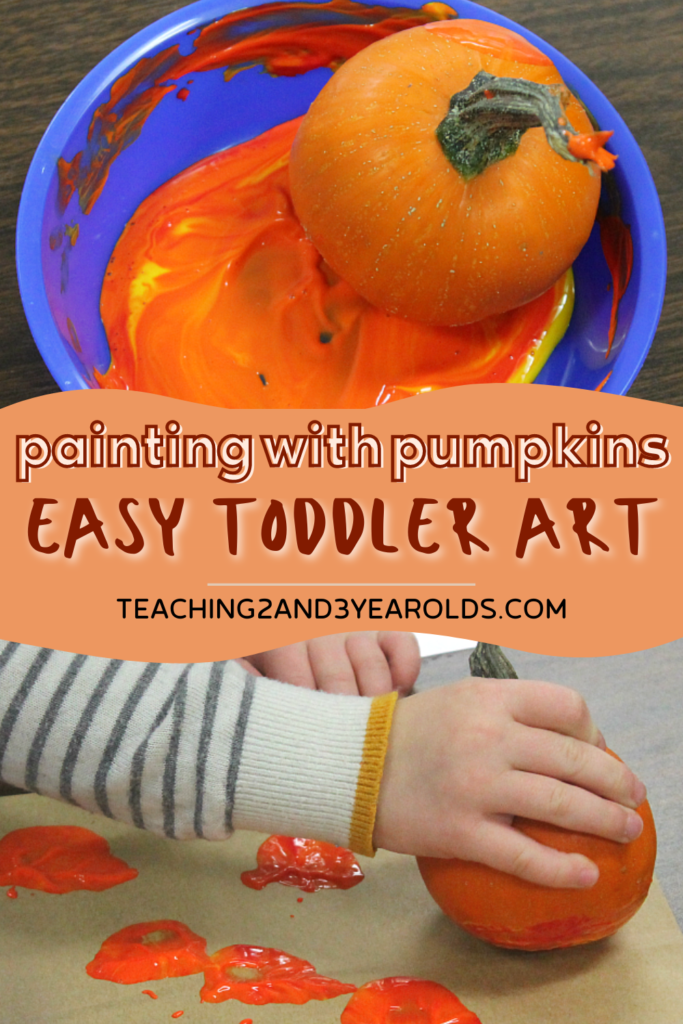 Super Easy Pumpkin Painting for Toddlers and Preschoolers