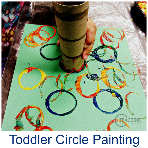 Toddler Circle Painting