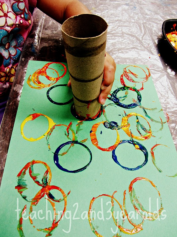 toddler circle painting