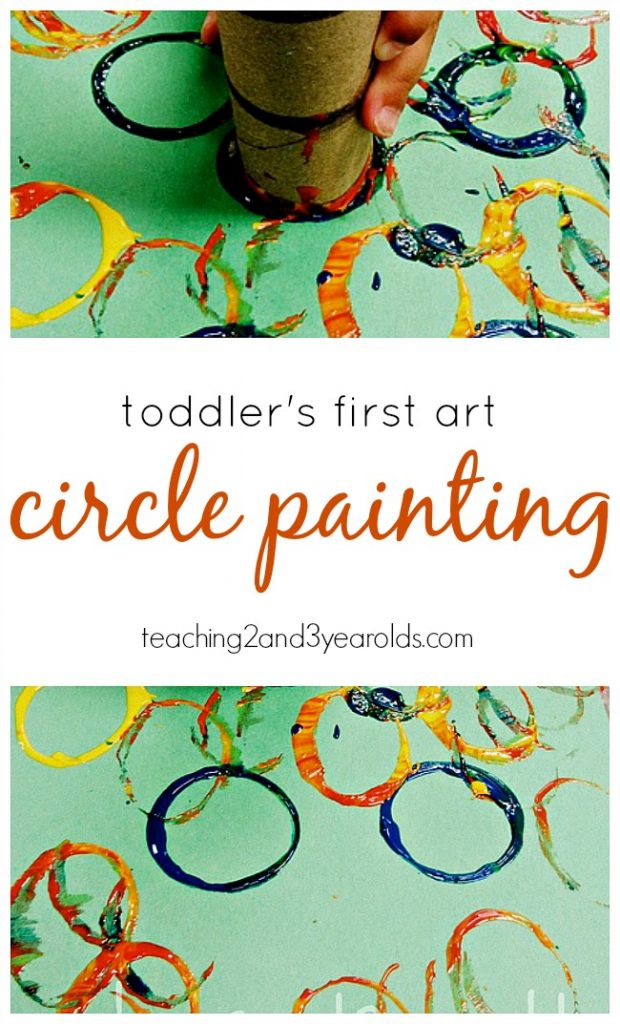 First Art with Toddlers: Circle Painting