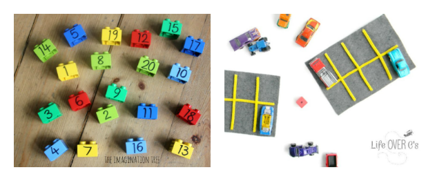preschool math using toys