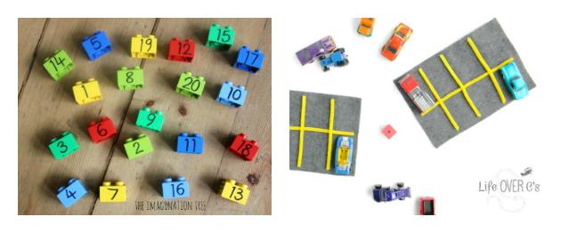 preschool math using toys
