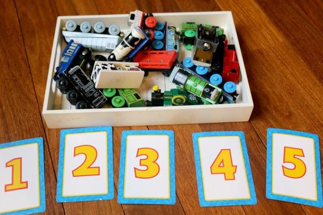 preschool train math game