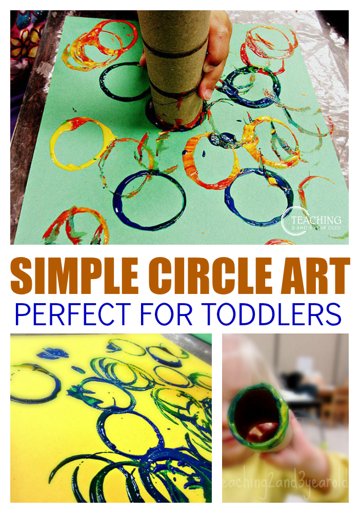 Easy Toddler Shapes Activity Using Paper Tubes