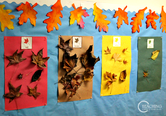 Fall Leaf Sorting with Free Printable