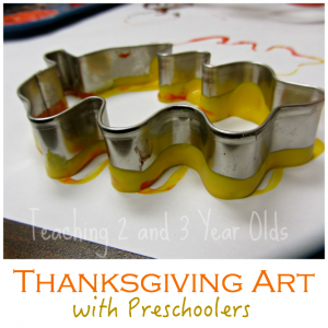 Thanksgiving art with Preschoolers