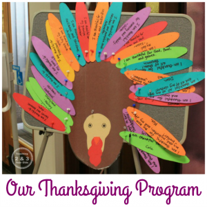 Preschool Thanksgiving Program