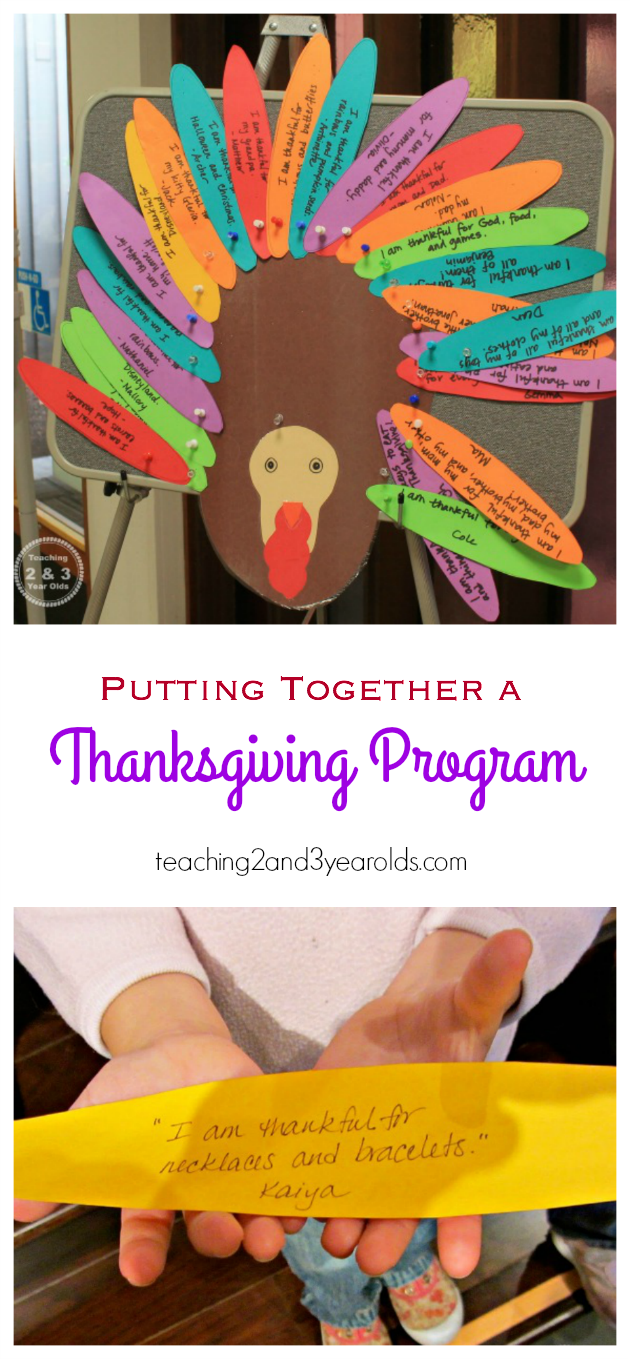 preschool Thanksgiving Program l