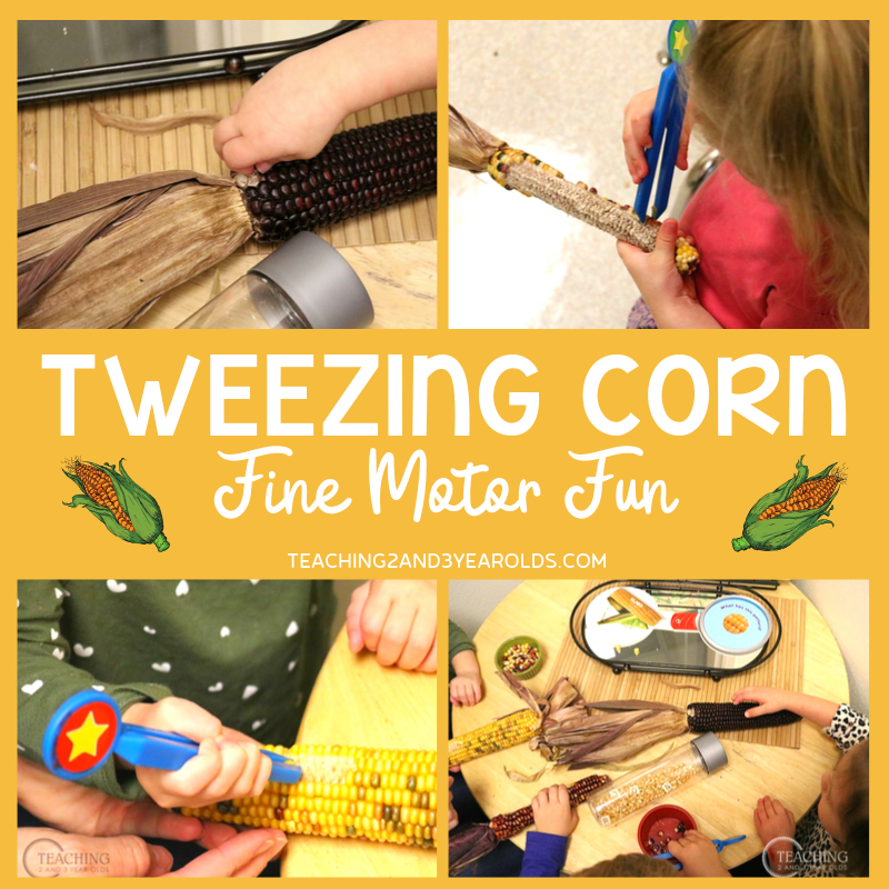 Preschool Tweezing Corn Fine Motor Activity