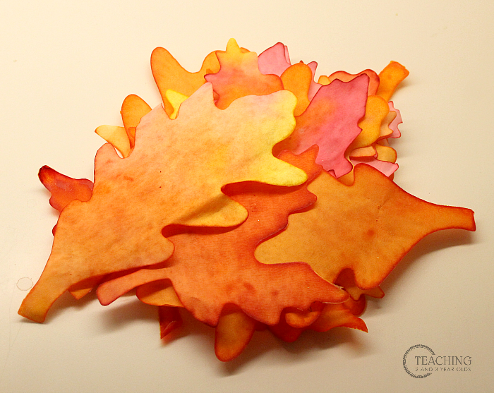 Fall Watercolor Leaf Art for Preschoolers