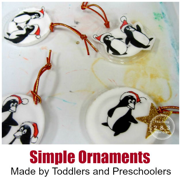 Simple Ornaments Made with Recycled Materials