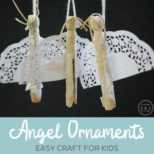 Easy Angel Craft for Kids {Fun Ornament Idea!}
