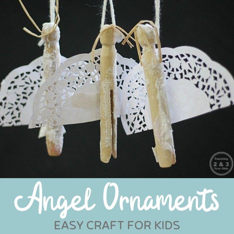 Easy Angel Craft for Kids {Fun Ornament Idea!}
