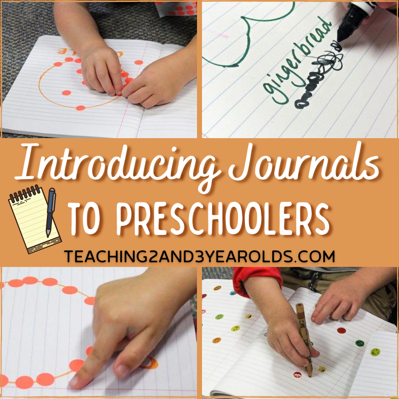 How to Introduce Preschool Journals to 3 Year Olds