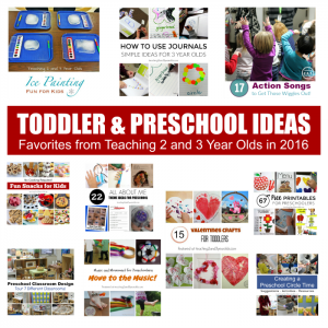 Top 10 Toddler and Preschool Posts for 2016