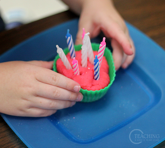 Playdough Birthday Activity