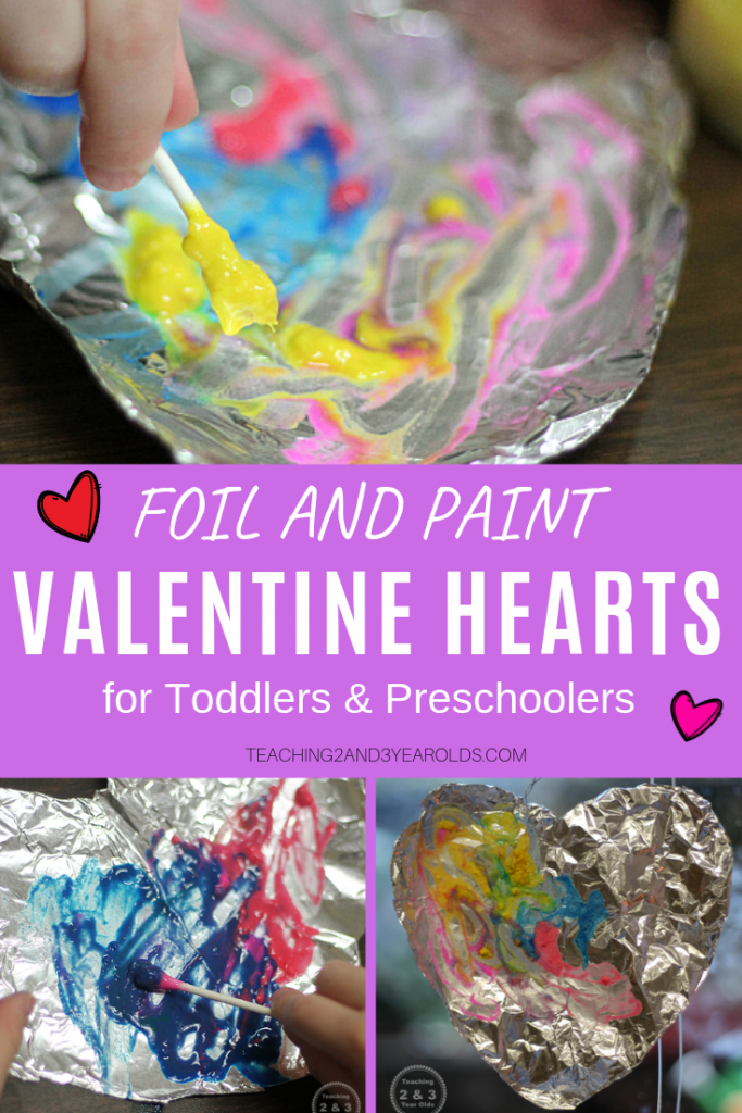 Fun and Easy Valentine's Craft with Foil and Paint