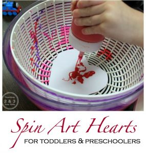 Spin Art Valentines for Kids