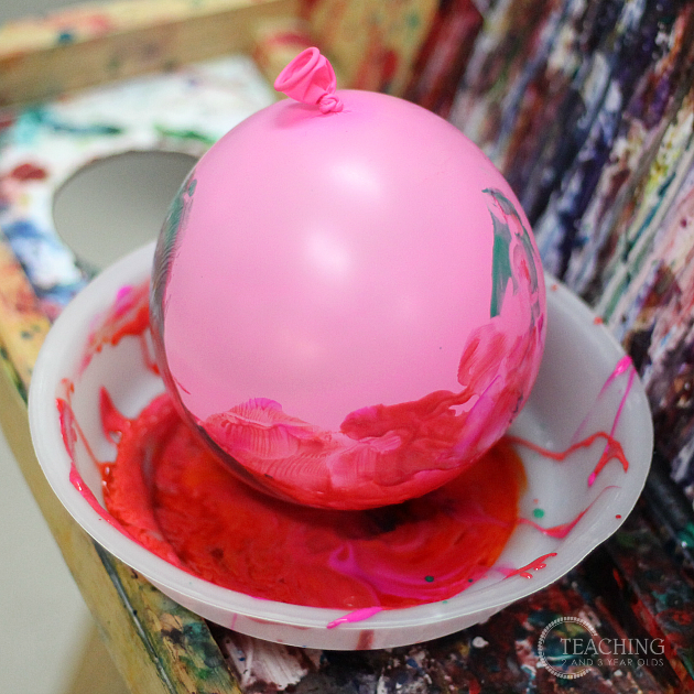 Super Easy Preschool Painting Using Balloons