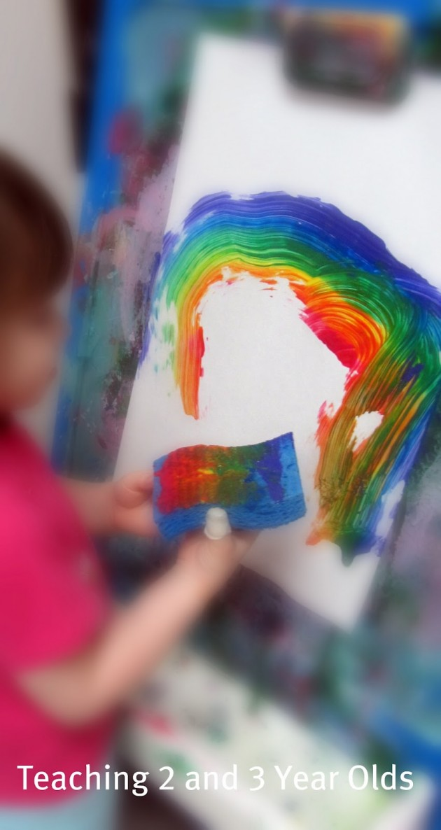 preschool rainbow art
