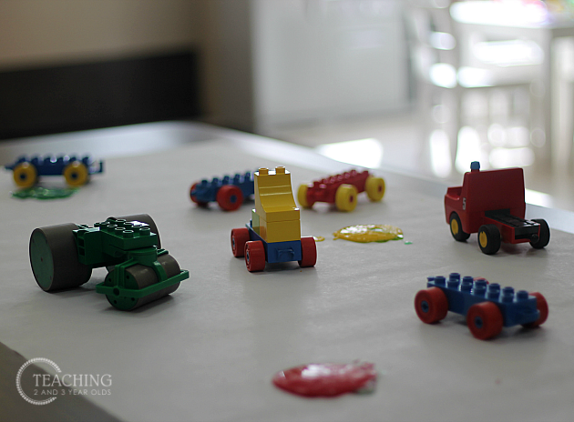 Fun Toddler Painting with Legos