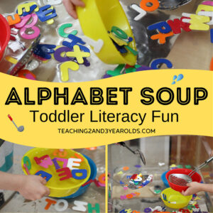 Toddler Learning with Alphabet Sensory Play