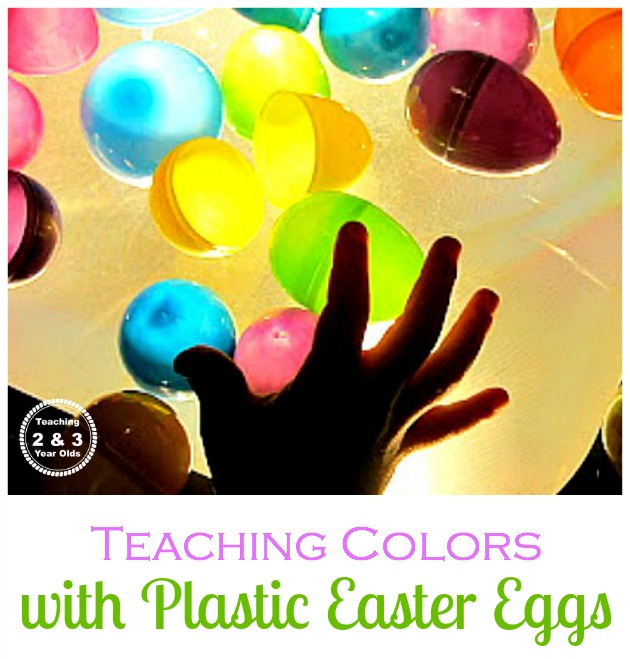 teaching colors with easter eggs