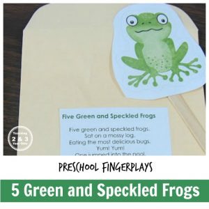 Five Little Speckled Frogs Fingerplay
