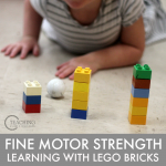 Fine motor strength - learning with Lego