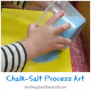 Process Art with Chalk Salt