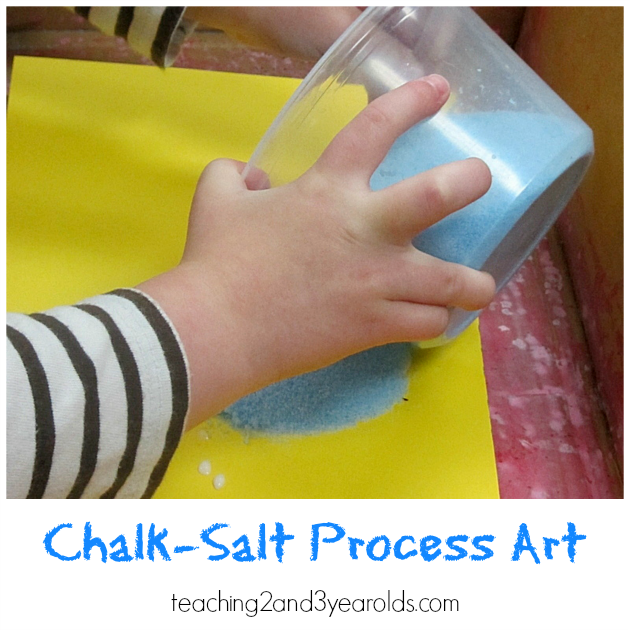 Process Art With Chalk Salt Teaching 2 And 3 Year Olds