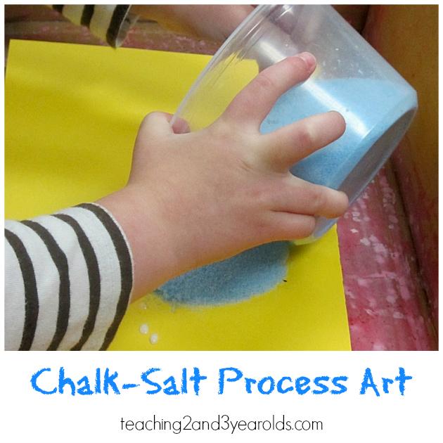 Process Art with Salt Chalk