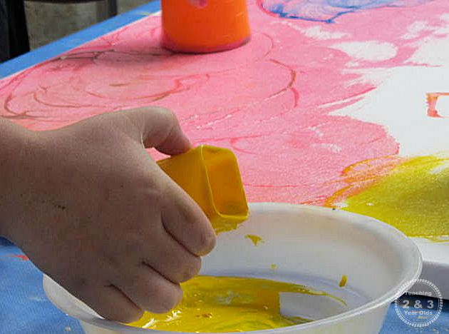 Abstract Painting with Kids