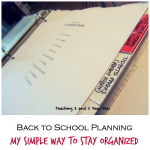back to school planning
