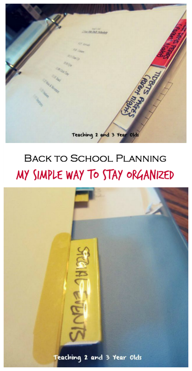 back to school planning for teachers