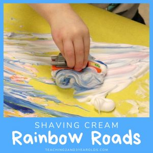 Shaving Cream Rainbow Art