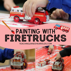 fire truck painting for toddlers