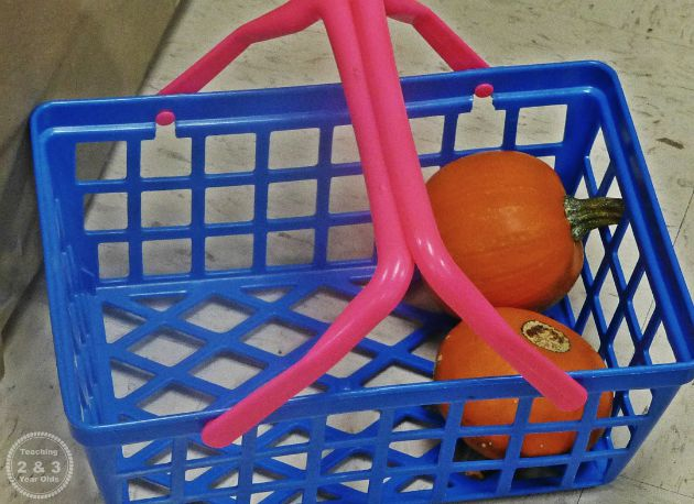 Preschool Dramatic Play Pumpkin Stand