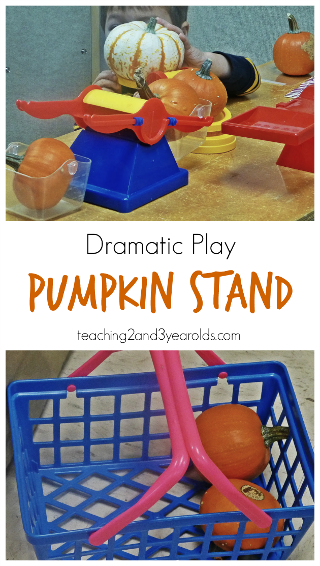 dramatic play pumpkin stand long