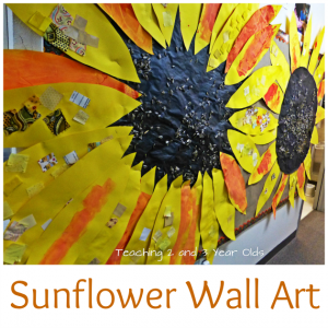 Sunflower Wall Art for Toddlers and Preschoolers