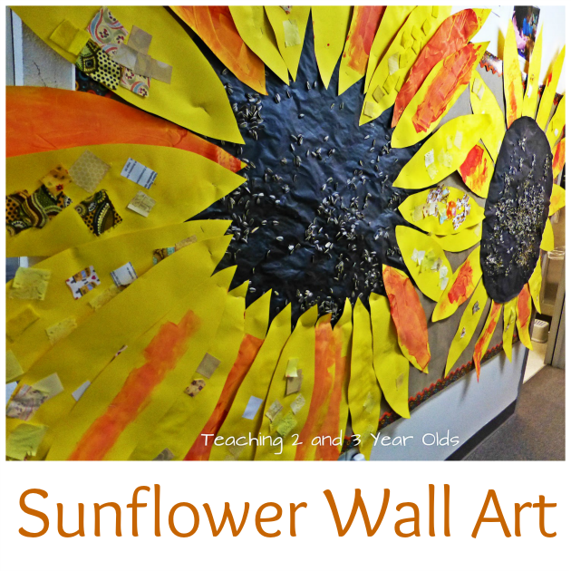 Sunflower Wall Art For Toddlers And Preschoolers   Teaching 2 And 3 Year  Olds