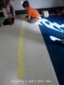Building scissors skills: paper roadways.