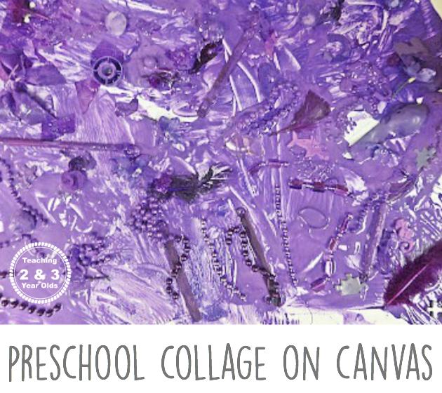 preschool collage canvas