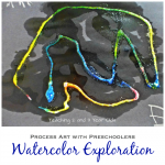 Process Art for Preschoolers Using Watercolors