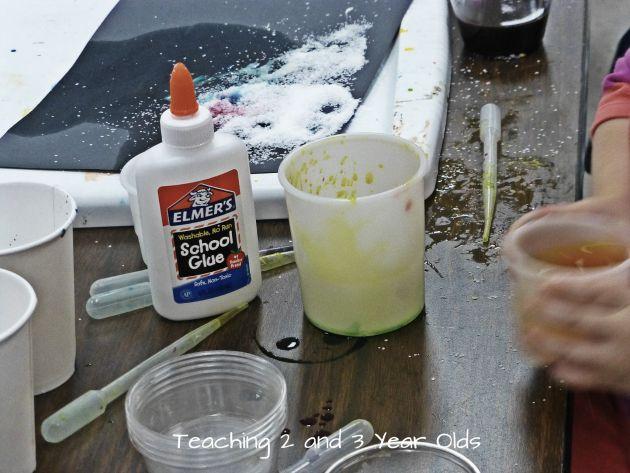 Process Art for Preschoolers Using Watercolors