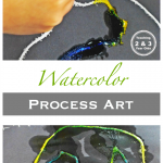 Process Art for Preschoolers Using Watercolors long